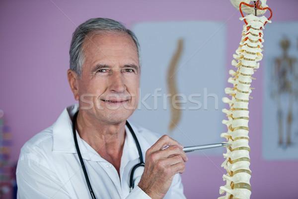 Retrato examinar espina modelo clínica hombre Foto stock © wavebreak_media