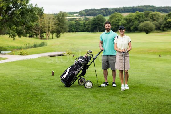 пару Постоянный гольф клуба сумку гольф Сток-фото © wavebreak_media