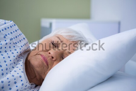 Patient relaxing on bed Stock photo © wavebreak_media