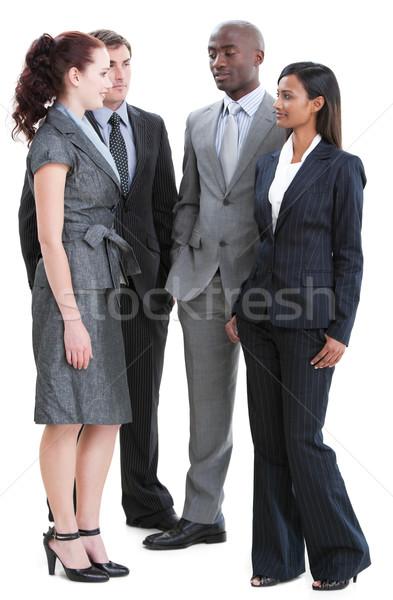 Internationale jonge zakenlieden permanente witte gelukkig Stockfoto © wavebreak_media
