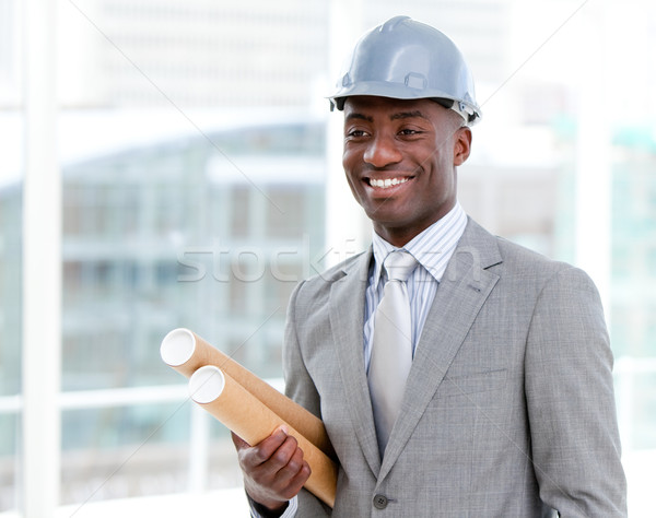 Portrait Homme architecte blueprints Photo stock © wavebreak_media