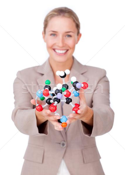 Lächelnd Geschäftsfrau halten Frau Büro glücklich Stock foto © wavebreak_media
