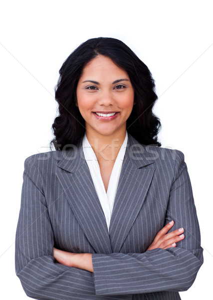 Portrait of a smiling businesswoman with folded arms  Stock photo © wavebreak_media