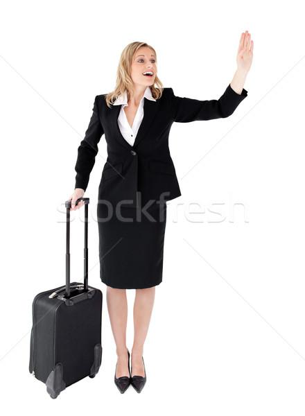 Kobieta interesu biały przestrzeni wykonawczej kobiet walizkę Zdjęcia stock © wavebreak_media