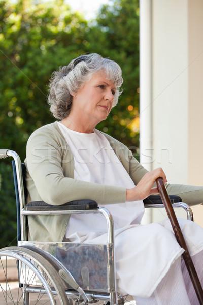 Senior vrouw rolstoel home medische gezondheid Stockfoto © wavebreak_media