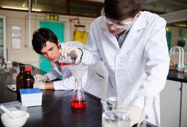 Young chemistry students making an experiment in a laboratory Stock photo © wavebreak_media