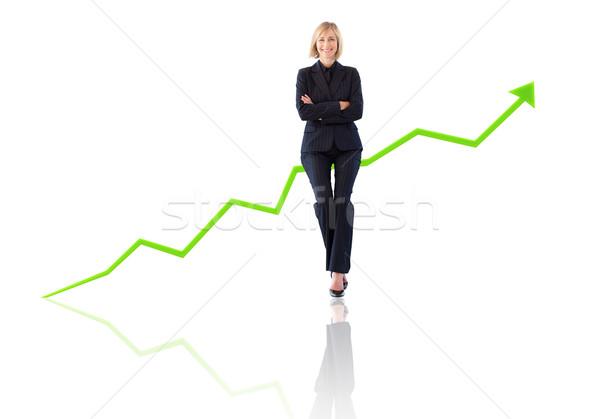 успешный деловая женщина счастливым корпоративного белый Сток-фото © wavebreak_media
