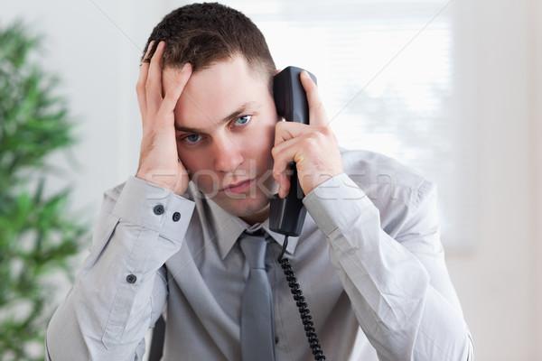 Teleurgesteld zakenman telefoon business werk Stockfoto © wavebreak_media