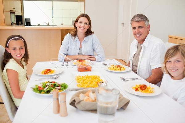 Family having dinner together Stock photo © wavebreak_media
