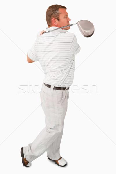 Widok z boku golfa biały sportu grać dysk Zdjęcia stock © wavebreak_media