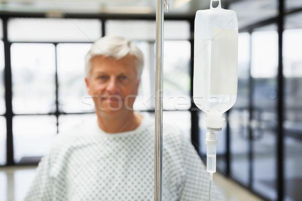 Paciente sorridente hospital corredor homem porta Foto stock © wavebreak_media