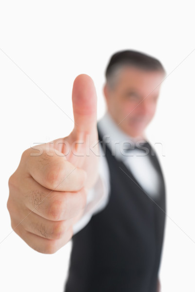Waiter in suit giving thumbs up Stock photo © wavebreak_media