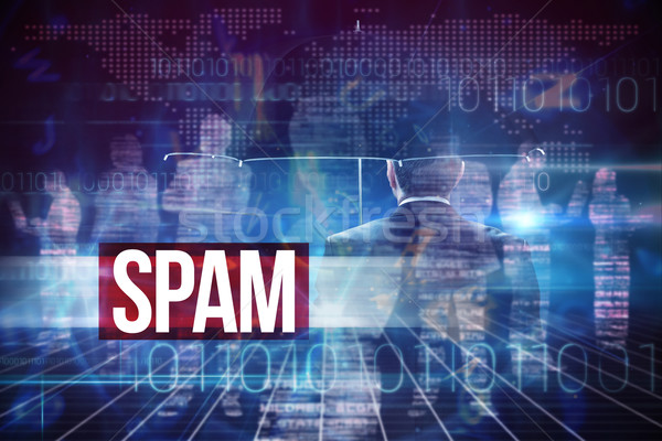 Spam against blue and red technology interface Stock photo © wavebreak_media