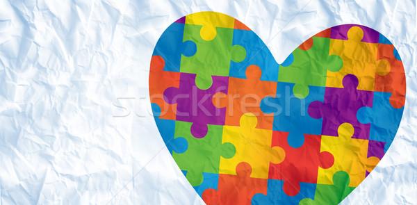 Composite image of autism awareness heart Stock photo © wavebreak_media