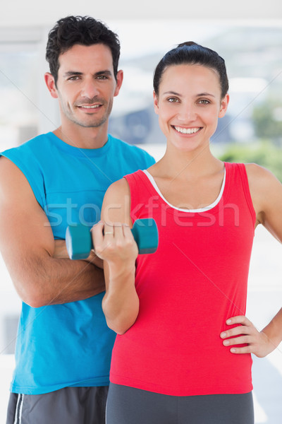 Uygun çift ayakta parlak egzersiz Stok fotoğraf © wavebreak_media