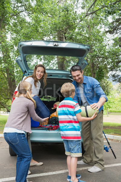 Family unloading car trunk while on picnic Stock photo © wavebreak_media