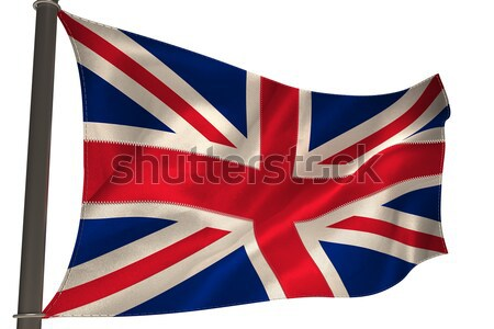 Stockfoto: Groot-brittannië · vlag · witte