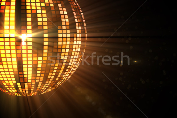Cool disco ball ontwerp oranje partij Stockfoto © wavebreak_media