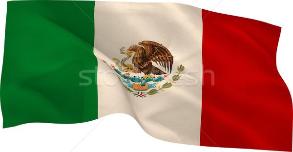 Digitalmente generato Messico bandiera bianco Foto d'archivio © wavebreak_media