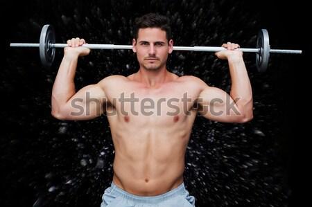Muscolare uomo nero Foto d'archivio © wavebreak_media