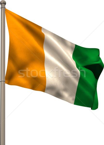Ivory coast national flag on flagpole  Stock photo © wavebreak_media