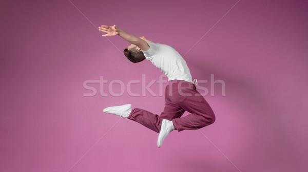 Cool pause danseur sautant up danse Photo stock © wavebreak_media