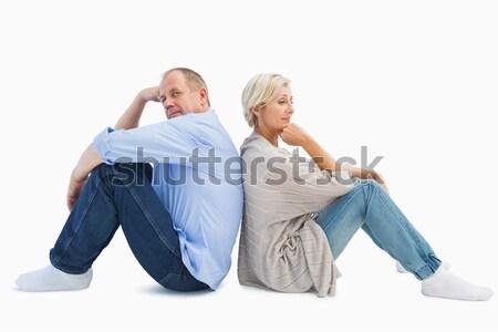 üzgün olgun çift değil konuşma beyaz Stok fotoğraf © wavebreak_media