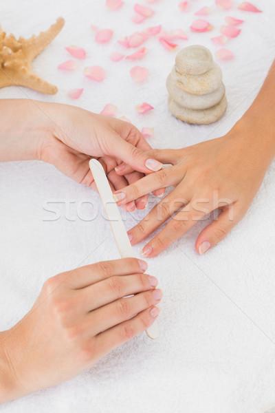 Femminile clienti chiodi spa salone di bellezza Foto d'archivio © wavebreak_media