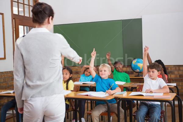 Sevimli eller sınıf okul Stok fotoğraf © wavebreak_media