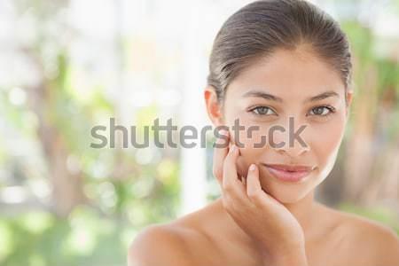 Bella bruna sorridere fotocamera nude Foto d'archivio © wavebreak_media