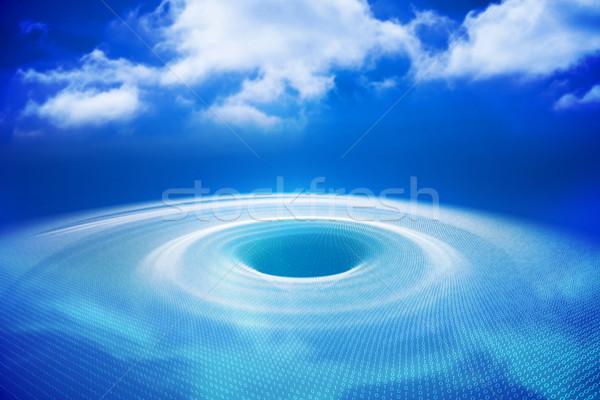 デジタル 生成された 穴 青 光 水色 ストックフォト © wavebreak_media