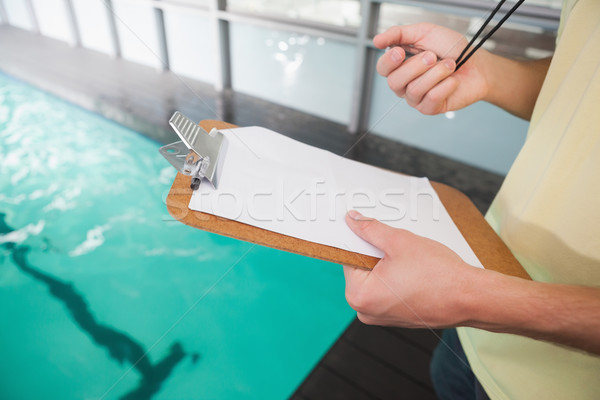 Yüzme koç kronometre boş Stok fotoğraf © wavebreak_media