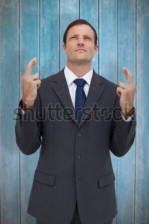 Businessman standing with clenched fists Stock photo © wavebreak_media
