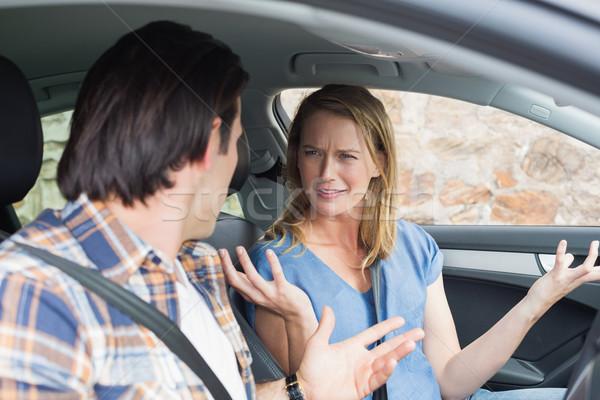 Casal juntos carro mulher estrada Foto stock © wavebreak_media