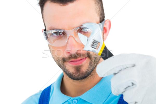 Regarder clé à molette blanche homme portrait Photo stock © wavebreak_media