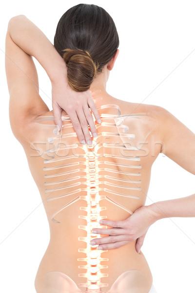 Omurga kadın sırt ağrısı dijital bileşik çıplak uygunluk Stok fotoğraf © wavebreak_media
