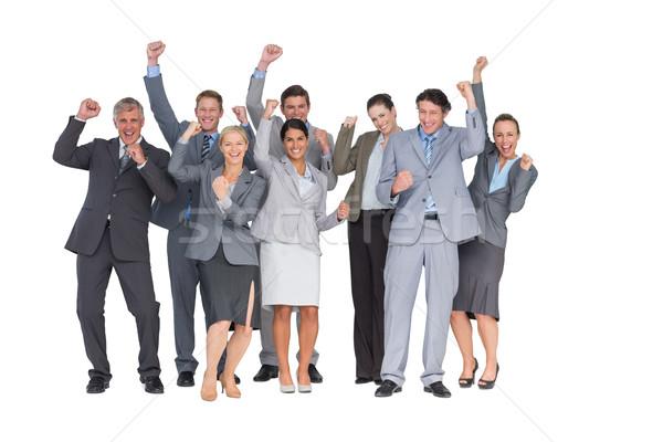 興奮した ビジネスチーム カメラ 白 女性 ストックフォト © wavebreak_media