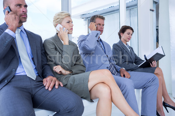 Business people waiting to be called into interview Stock photo © wavebreak_media