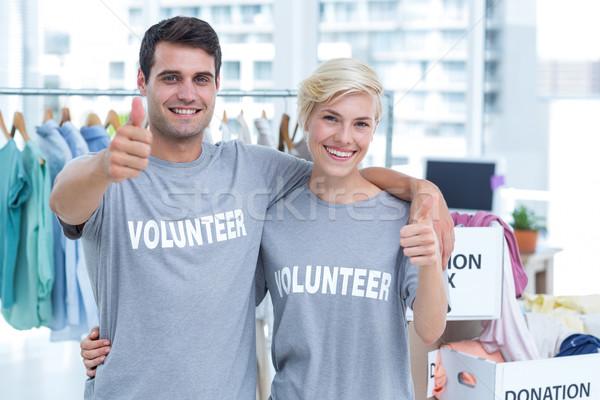 Heureux couple volontaire portrait femme bureau Photo stock © wavebreak_media