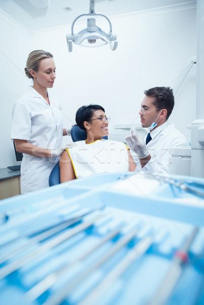 歯科医 女性 補綴 歯 女性 ストックフォト © wavebreak_media