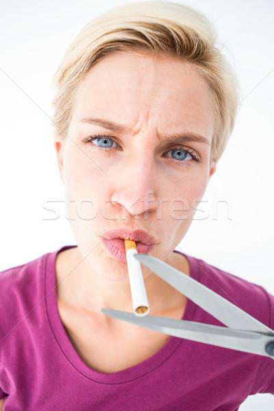 Güzel sigara beyaz ölüm Stok fotoğraf © wavebreak_media