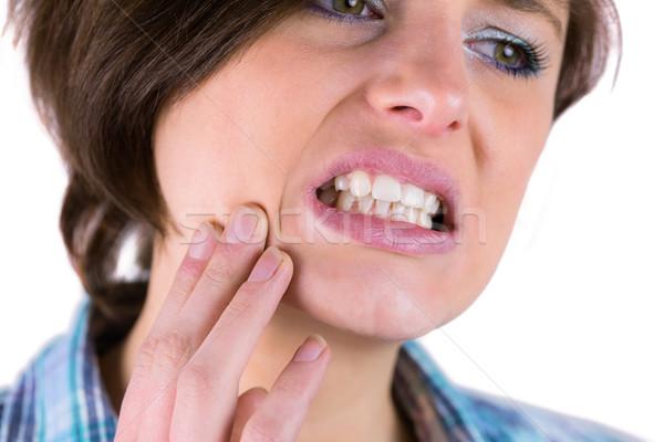 Bastante morena dolor de muelas blanco salud femenino Foto stock © wavebreak_media