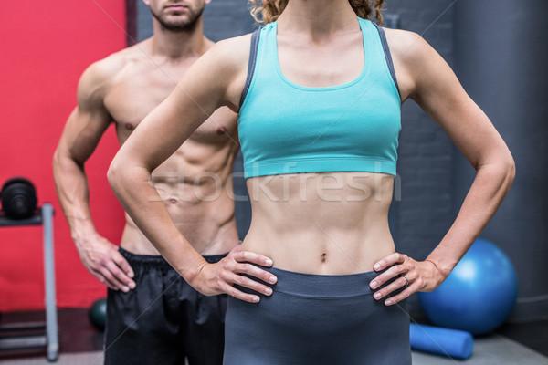 筋肉の カップル 手 ヒップ crossfitの ジム ストックフォト © wavebreak_media