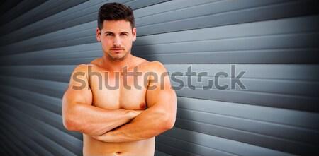 Portré komoly izmos férfi néz kamera Stock fotó © wavebreak_media