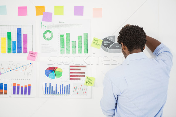 молодые бизнесмен мышления дизайна Дать работу Сток-фото © wavebreak_media