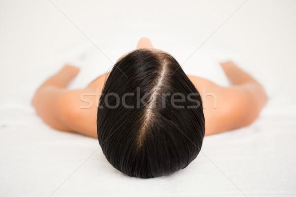 Foto stock: Bastante · morena · massagem · feliz