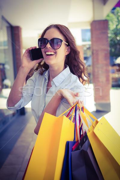 Güzel kadın mutlu alışveriş kadın Stok fotoğraf © wavebreak_media