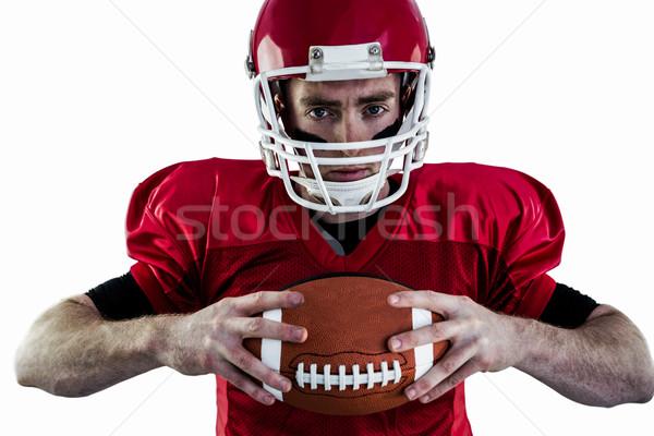 Portré fókuszált amerikai futballista fehér sport Stock fotó © wavebreak_media