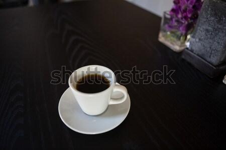 Zwarte koffie geserveerd tabel cafe Stockfoto © wavebreak_media