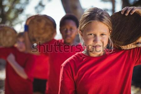 çocuklar çizme kamp gökyüzü Stok fotoğraf © wavebreak_media